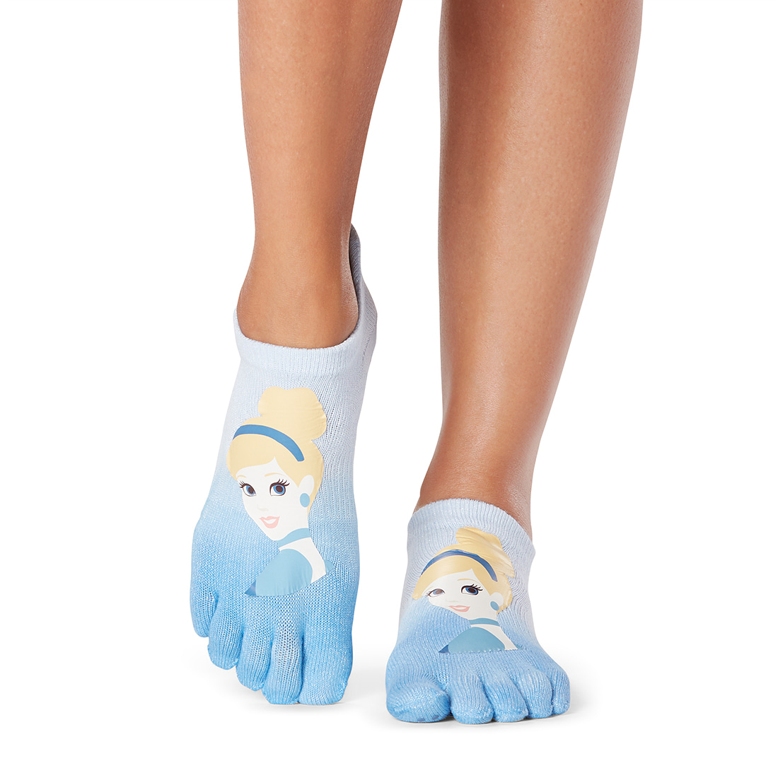 Disney X ToeSox Grip F/T Low Rise Glass Slipper